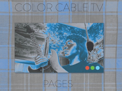 """color cable tv releases single """"pages"""""""