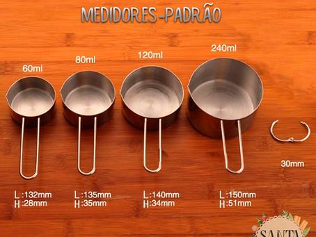 Utensílios de Cozinha: Medidores-Padrão