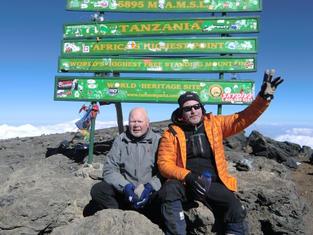 Trekking: At Uhuru Peak