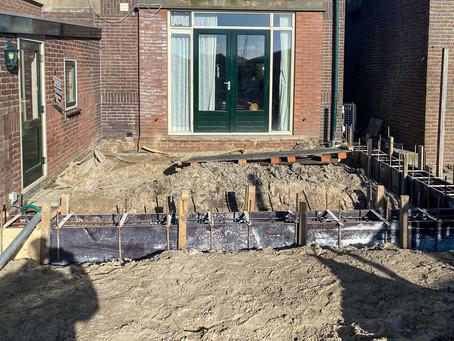 Gestart met aanbouw en verbouwing in Hoogkarspel