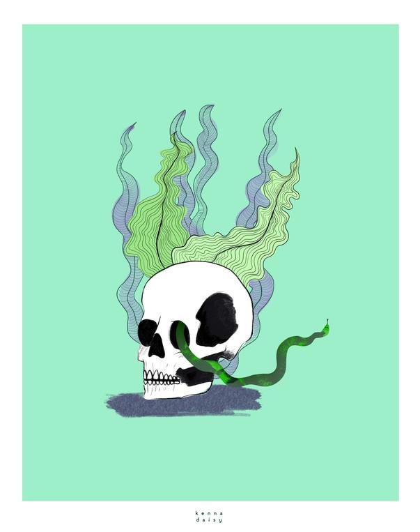 Seaweed skully green