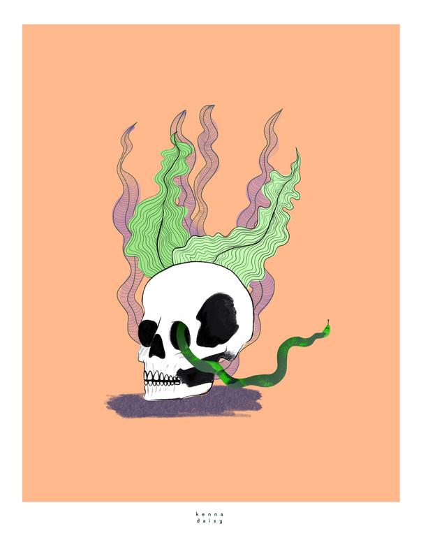 seaweed skully orange