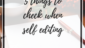 5 things to check when self editing