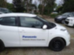 Lettrage publicitaire pour véhicule à Toulouse, Muret et Eaunes
