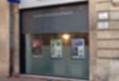 Adhesif dépoli vitrine de magasin bureau toulouse