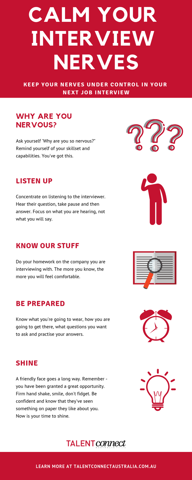 INFOGRAPHIC - CALM YOUR INTERVIEW NERVES
