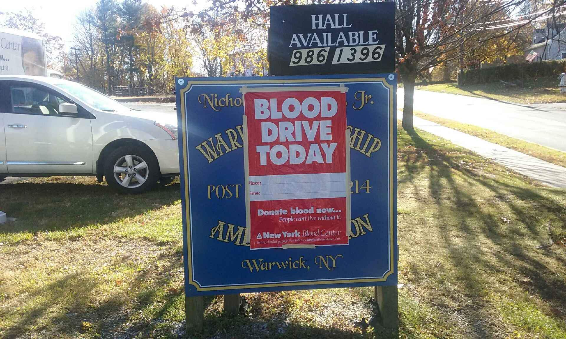 Warwick Lodge 544 Blood Drive