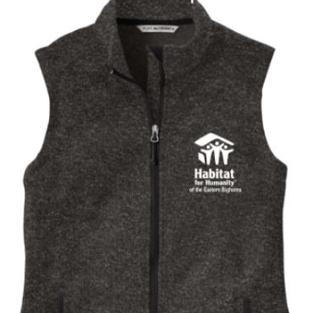Ladies Charcoal Fleece Vest