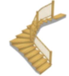Kāpnes ar 180` pagriezienu