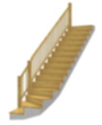 Kāpnes ar 90` pagriezienu
