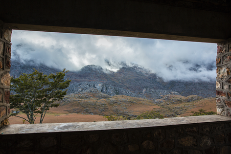 Deck view from the cabin in Chimanimani National Park, Zimbabwe