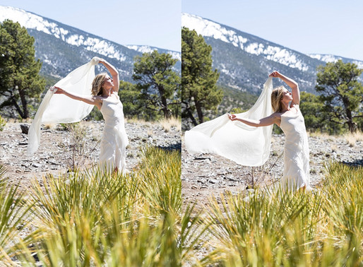 Bridal Portrait in Great Sand Dunes National Park