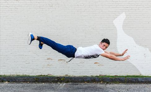 Breakdancing Man in Baltimore, Maryland