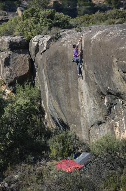 Paul Robinson Climbing in Spain