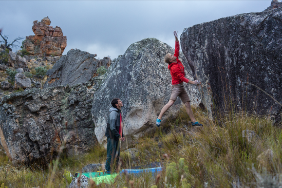 Marijus Smegelskis climbing in South Africa