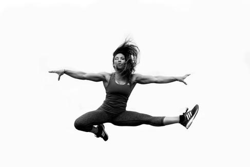 Meagan Martin in flight
