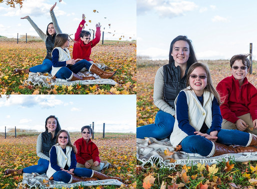 Outdoor Fall Family Photos in Maryland