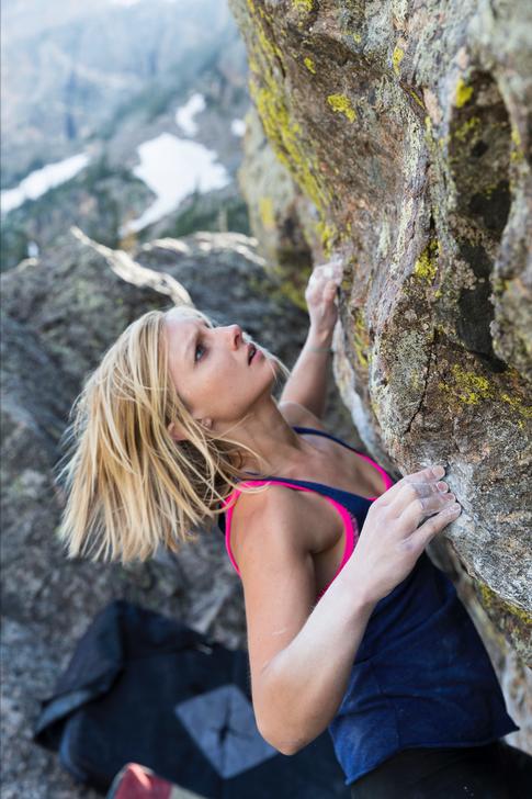 Rachel Robinson Climbing in Colorado