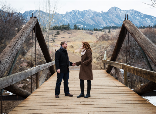 A winter engagement in Boulder, Colorado