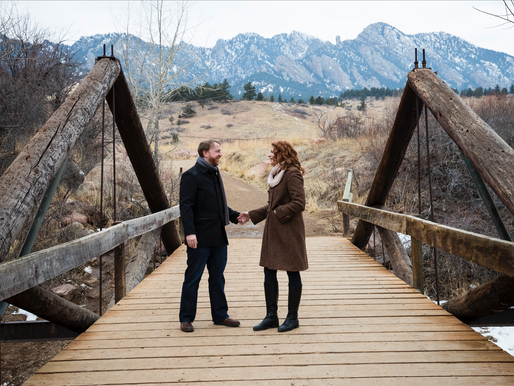 A winter engagement in Boulder, Colorado
