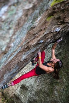 Carrie Cooper bouldering