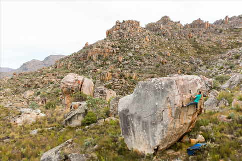 Paul Robinson Climbing in South Africa