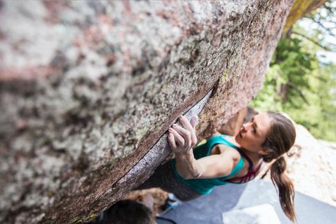 Jessie Michaud Climbing in Colorado