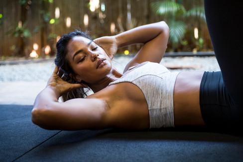 Female Fitness Model Mahina Garcia in Oahu