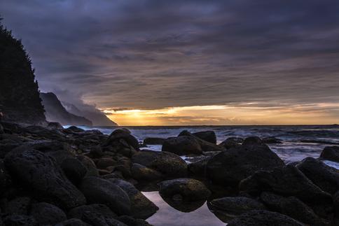Na Pali Coast Sunset, Kauai