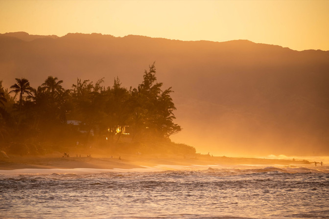 Sunset on North Shore, Oahu