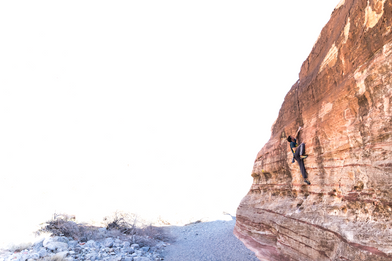 Niky Ceria climbing in Red Rocks
