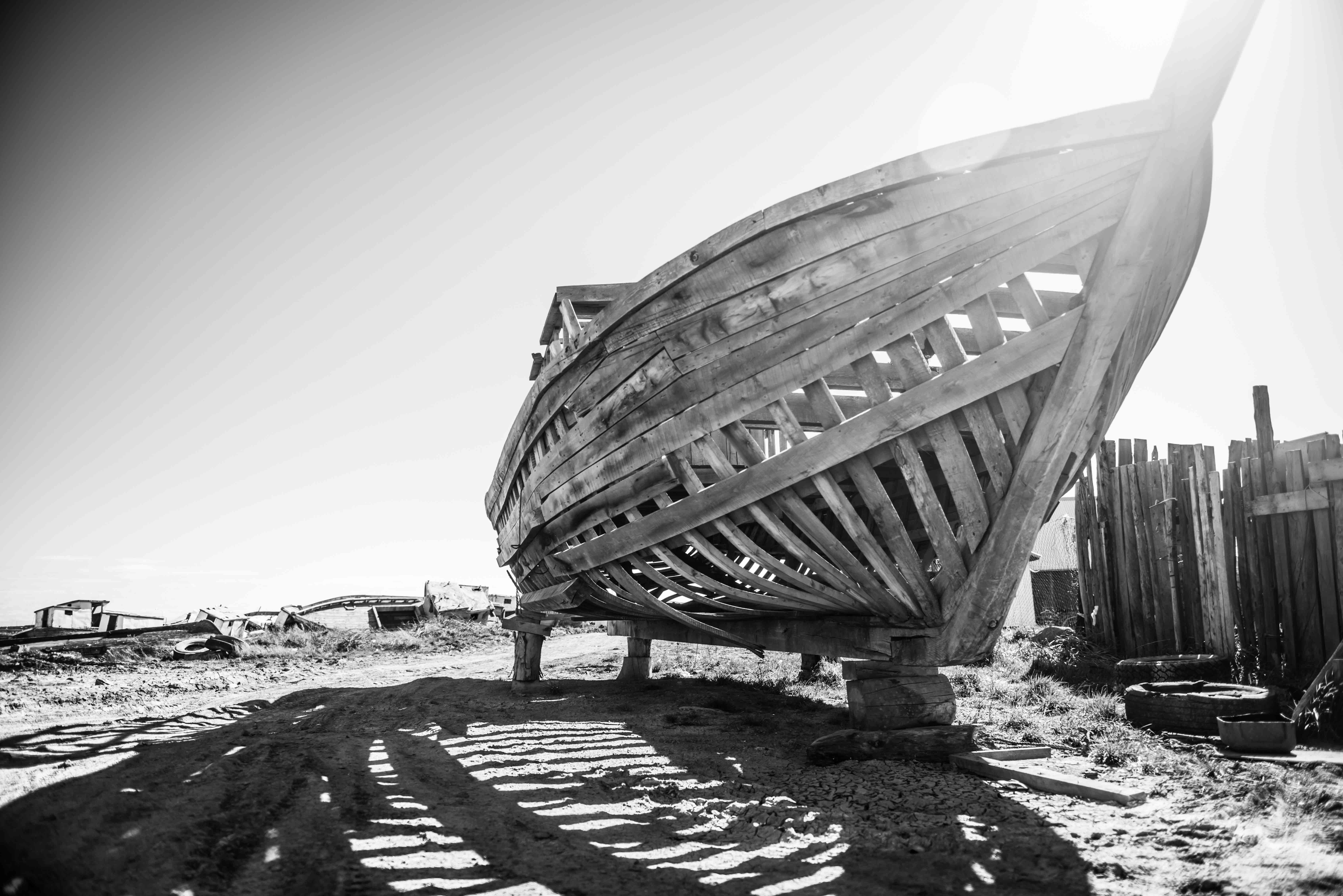 """Cimetière de bateaux """"4"""" - Patagonie"""