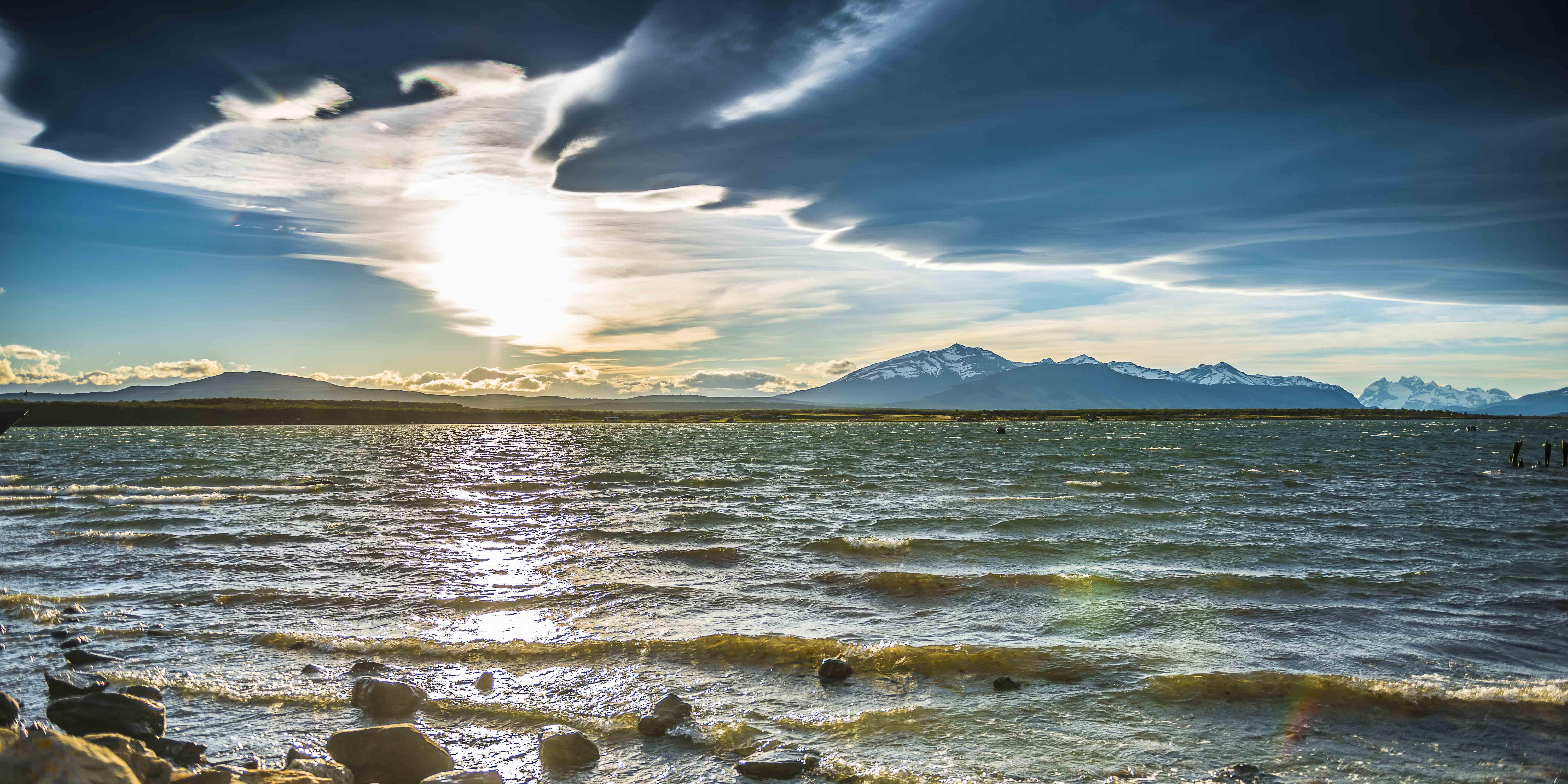 Coucher de soleil - Puerto Natales