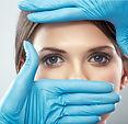 Beauty Woman face surgery close up portr