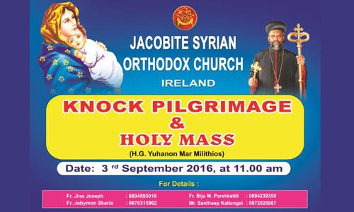 Knock Pilgrimage-2016 on September 3rd