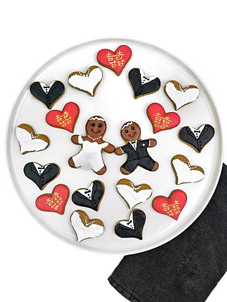 Double Happiness Wedding Cookies