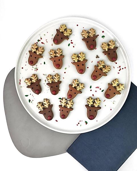 Blue T Christmas Cookies