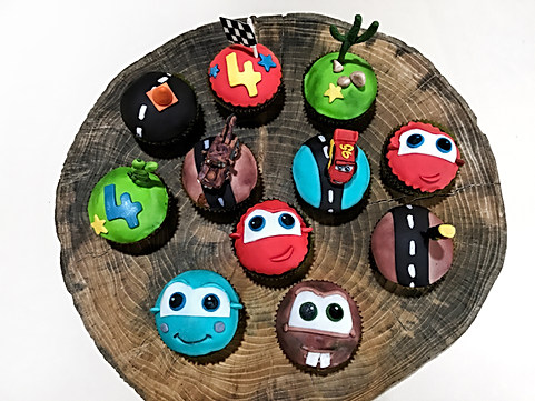Cars Themed Cupcakes