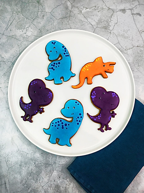 Giant Dinosaur Cookies
