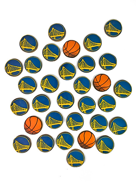 Golden State Warrior Cookies