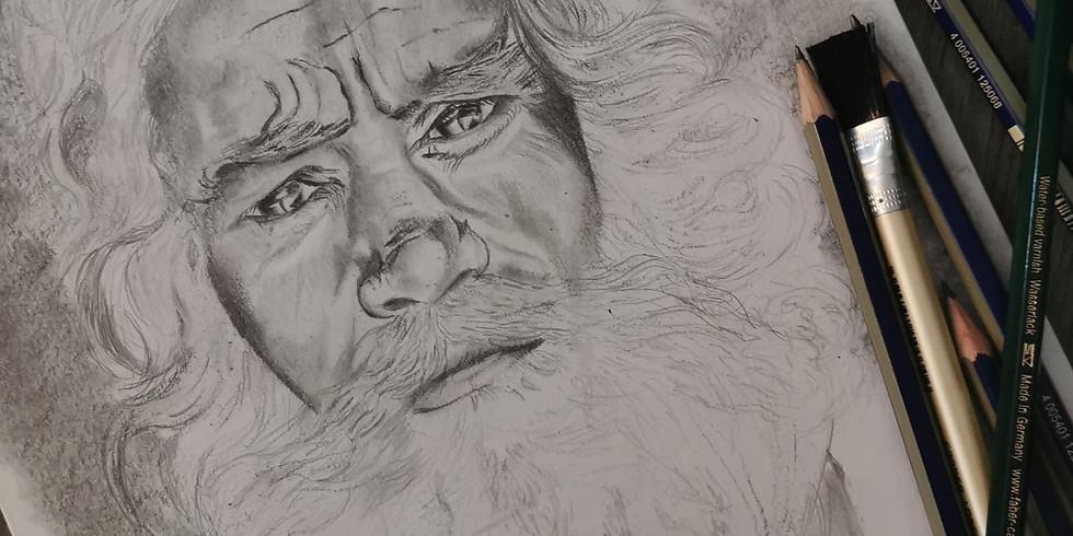Dessiner un portrait au crayon graphite (le lundi soir)