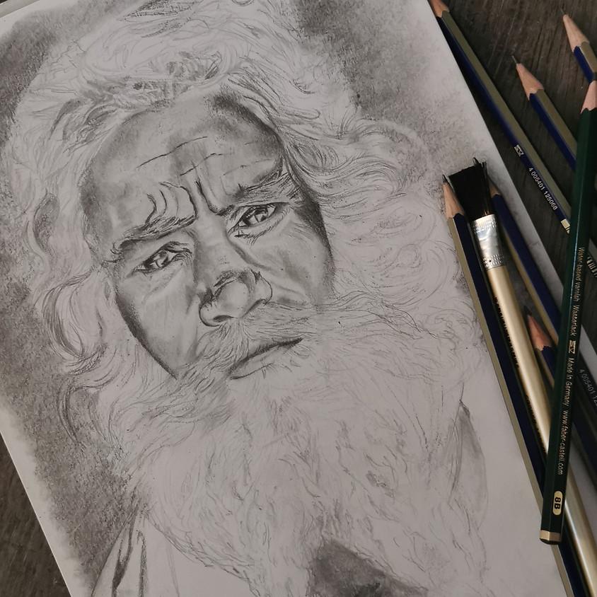 Dessiner un portrait au crayon graphite (le samedi matin)