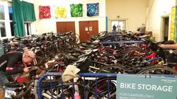Bikes ready for the C2C