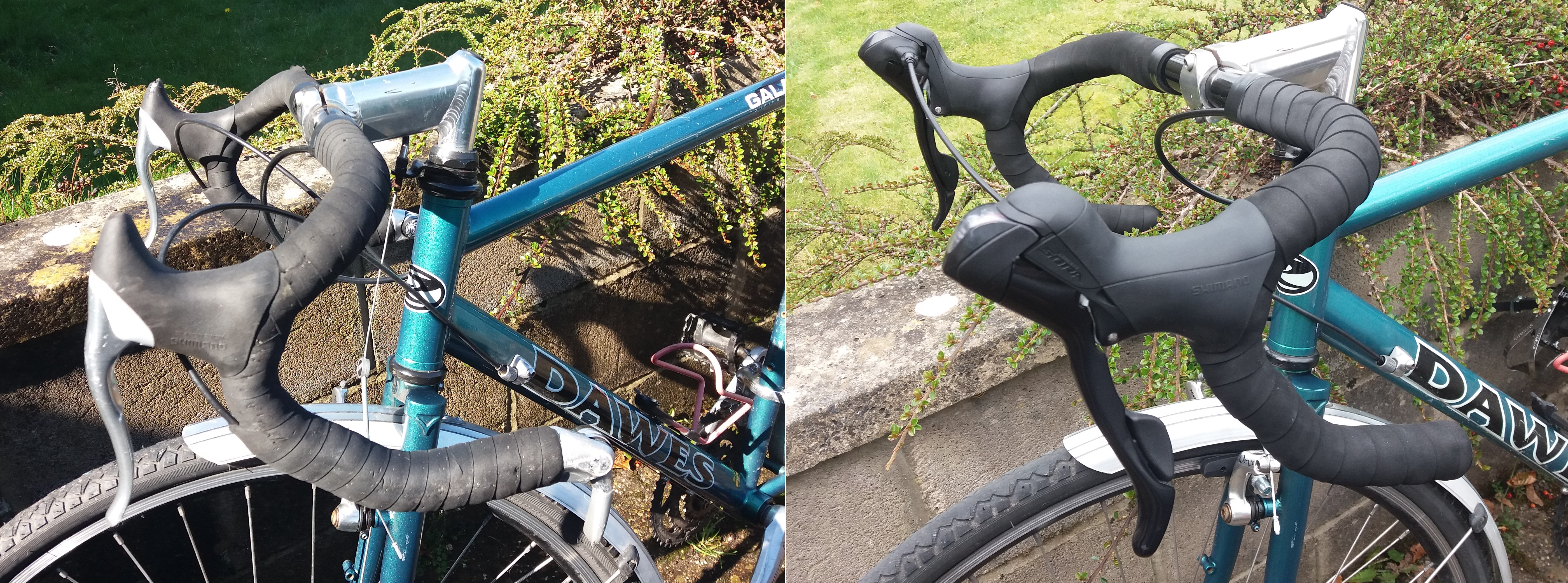 Updating shifters - Before and after