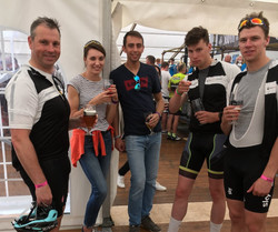 Riders and support team