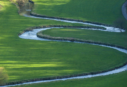 Meander of the Lauter River in the Gross