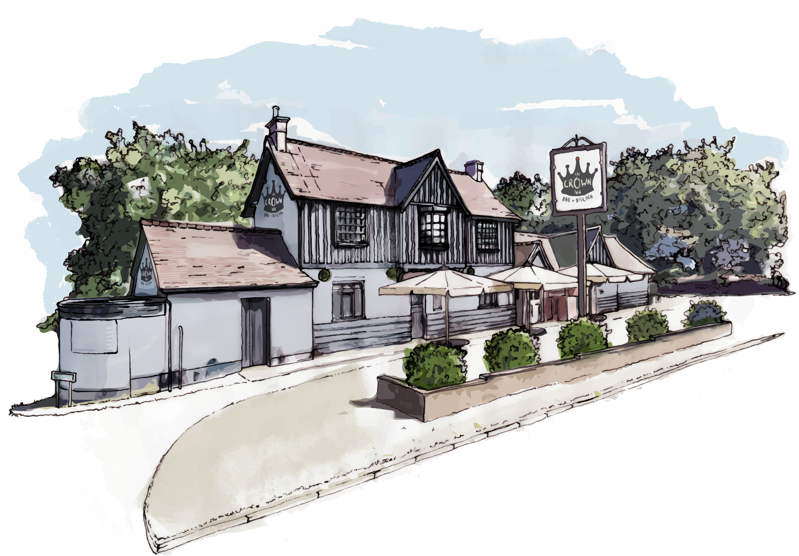 Crown Inn Illustration