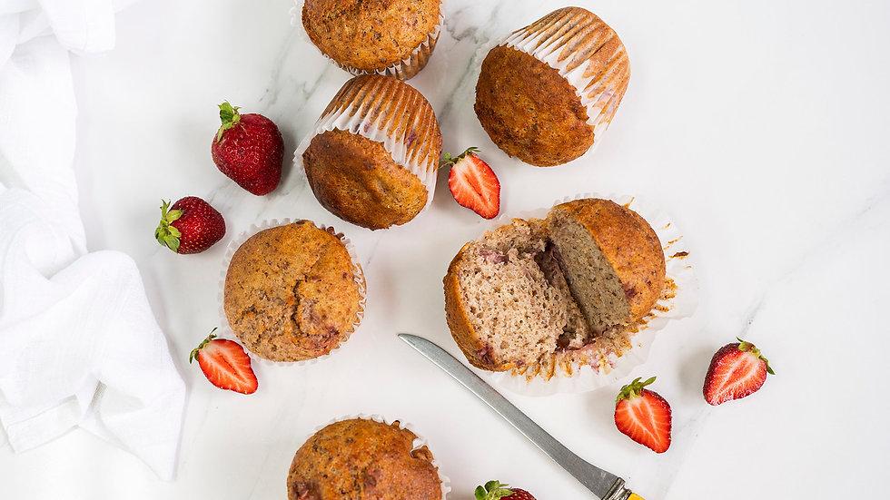 Muffins fraises et yogourt - familial