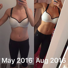 laurin couzins before and after my fitness coach steven gardner