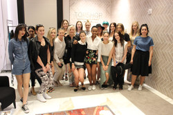 The Fashion Institute students meeting the styling team at TOPSHOP